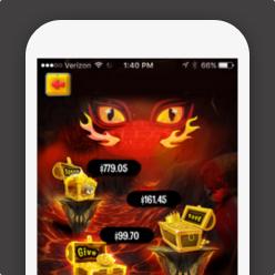 DragonBank App on a phone