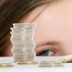 Child Looking at Money